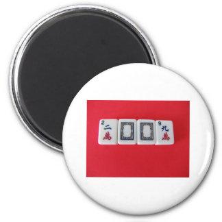 Mah -Jongg New Year 6 Cm Round Magnet