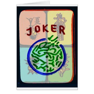 Mah Jongg Notecard  Joker Note Card