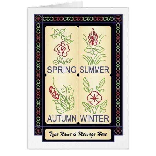 Mah Jongg Seasons 02 Customisable Card