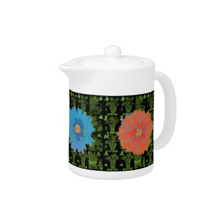 Mah Jongg Seasons Brights Teapot