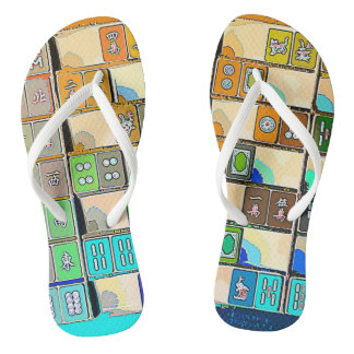 Mah Jongg Tiles Flip Flops