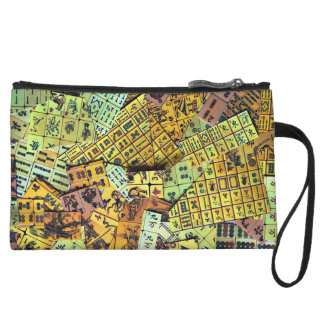 Mah Jongg Vintage Tiles Mini Clutch Bag