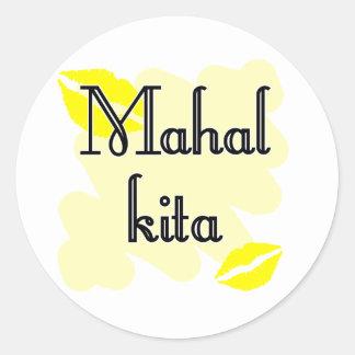 Mahal Kita - Filipino I love you Round Stickers