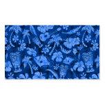 Mahapuu Beach Hawaiian Batik Tonal Blue Pack Of Standard Business Cards