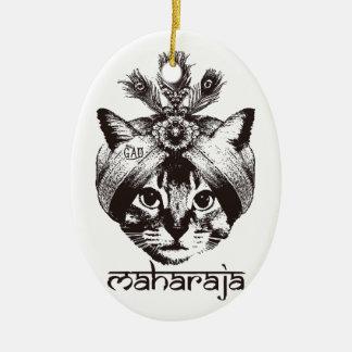 Maharaja Cat Ceramic Oval Decoration
