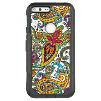 Maharani Queen Paisley Turquoise Orange Red Yellow OtterBox Commuter Google Pixel XL Case