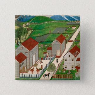 Mahatango Valley Farm, late 19th century 15 Cm Square Badge