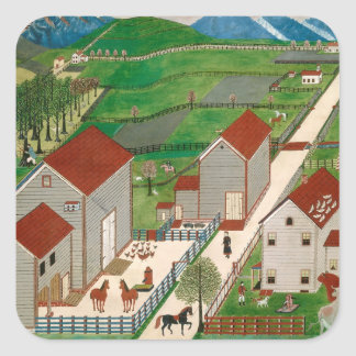 Mahatango Valley Farm, late 19th century Square Sticker