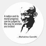 Mahatma Gandhi Animal Rights Classic Round Sticker