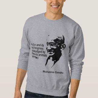 Mahatma Gandhi Animal Rights Sweatshirt