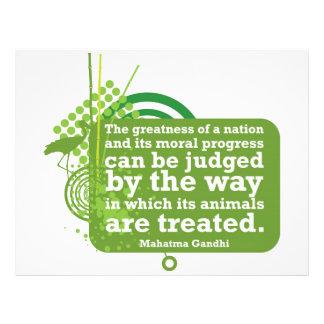 Mahatma Gandhi Quote 21.5 Cm X 28 Cm Flyer