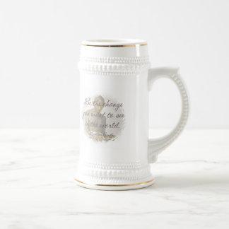 Mahatma Gandhi Quote Beer Stein Coffee Mugs