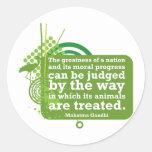 Mahatma Gandhi Quote Classic Round Sticker