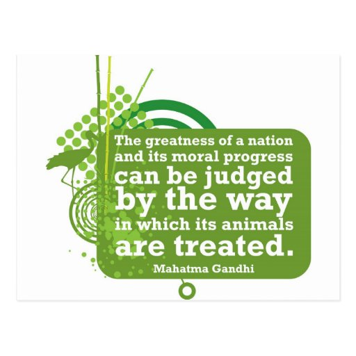 Mahatma Gandhi Quote Post Card