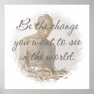 Mahatma Gandhi Quote Poster