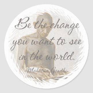 Mahatma Gandhi Quote Stickers