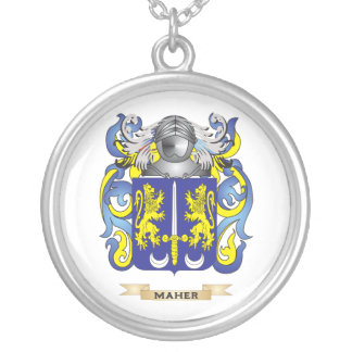 Maher Coat of Arms Family Crest Necklaces