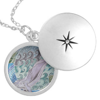 Mahi mahi silver plated necklace
