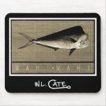 Mahi-Mahi Vintage Black & White Mouse Pads