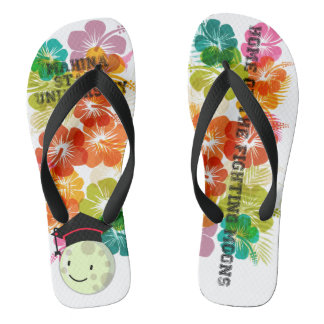 Mahina State Rubber Slippers Flip Flops