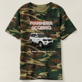 Mahindra Scorpio T-shirt Camouflaged