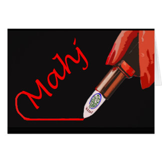 Mahj Lipstick Notecard