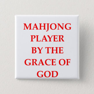 MAHJONG 15 CM SQUARE BADGE