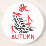 Mahjong Autumn Coaster, White Background