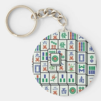mahjong basic round button key ring