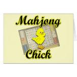 Mahjong Chick #2 Greeting Cards