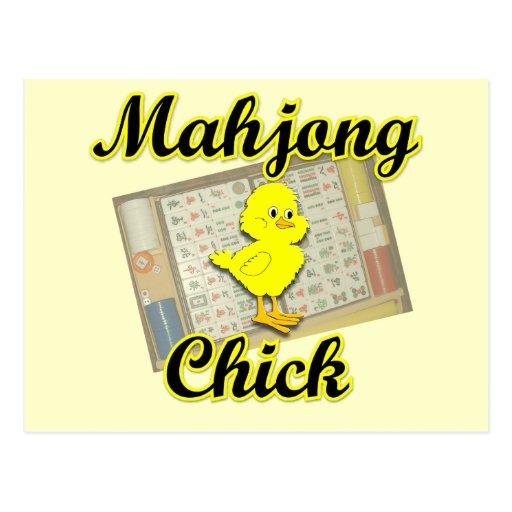 Mahjong Chick #2 Postcard