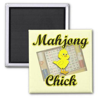 Mahjong Chick #2 Square Magnet
