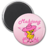 Mahjong Chick #8 6 Cm Round Magnet