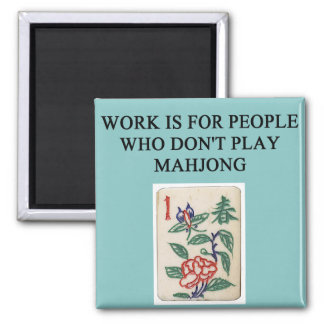 mahjong game player magnet
