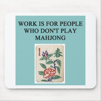 mahjong game player mouse mat