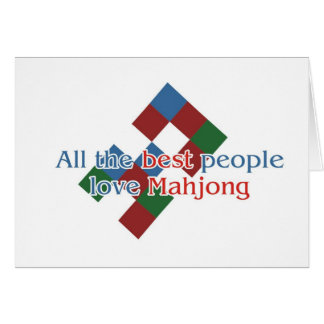 Mahjong Lover's greetings Card