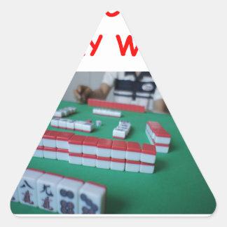 mahjong triangle sticker