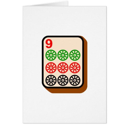 Mahjong Tile Card