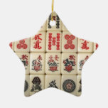 Mahjong tiles ceramic star decoration