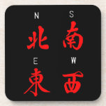 Mahjong Winds,Honour Suit,North,South,East,West (c Drink Coaster
