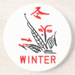 Mahjong Winter Coaster, White Background