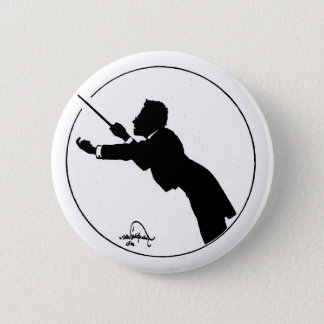 Mahler Conducting 6 Cm Round Badge