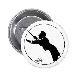 Mahler Conducting 6 Cm Round Badge