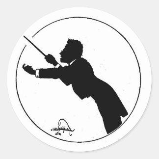 Mahler Conducting Round Sticker