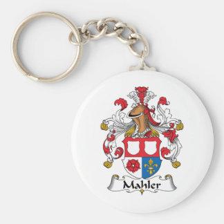 Mahler Family Crest Basic Round Button Key Ring