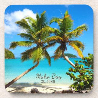 Maho Bay Beach St. John Coasters - Set 6
