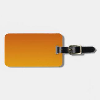 Mahogany to Amber Horizontal Gradient Luggage Tag