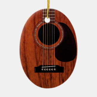 Mahogany Top Acoustic Guitar Christmas Ornament