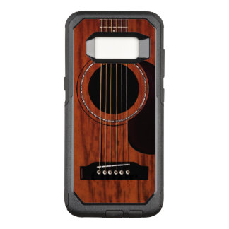 Mahogany Top Acoustic Guitar OtterBox Commuter Samsung Galaxy S8 Case