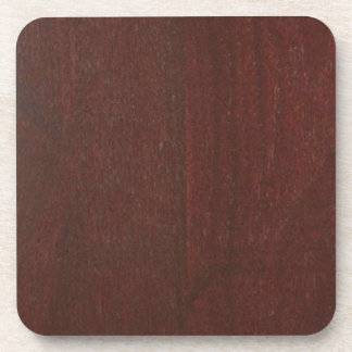 MAHOGANY Wood Finish BUY Blank Blanche add TEXT Coaster